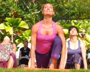 Renowned yogini, Katy Appleton, in this morning's kick off Yoga Mala